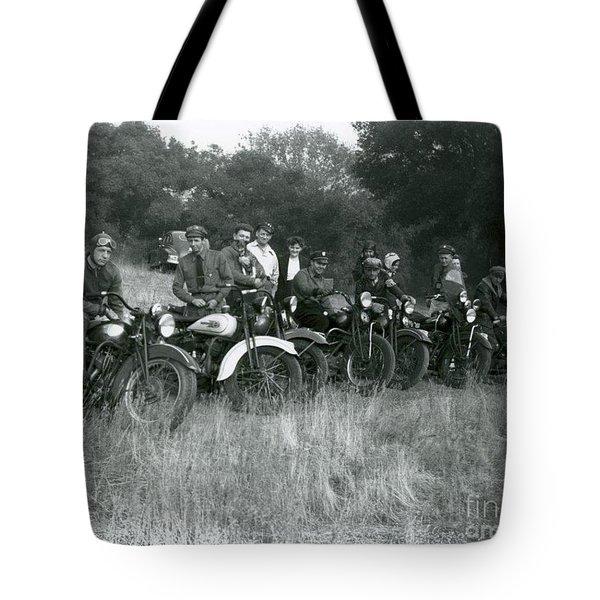 1941 Motorcycle Vintage Series Tote Bag