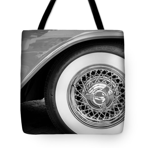 1957 Chevrolet Bel Air 283 Painted Bw  Tote Bag