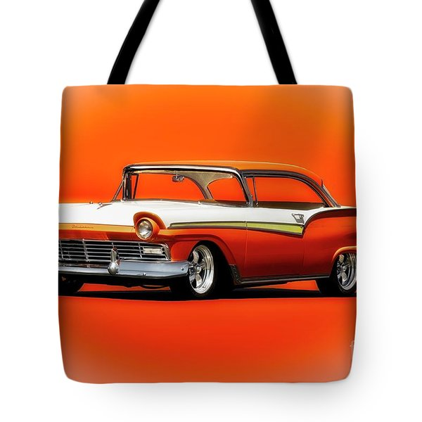 1957 Ford Fairlane 500 Tote Bag