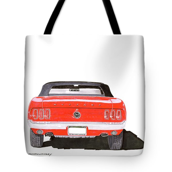 Tote Bag featuring the painting 1969 Mustang Convertible by Jack Pumphrey