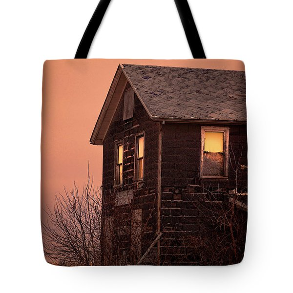 Tote Bag featuring the photograph Abandoned House by Jill Battaglia