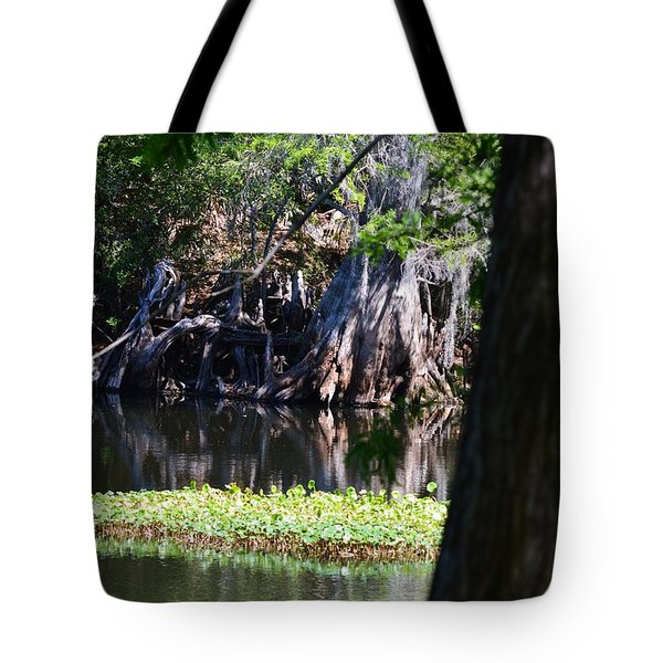 Across The River Tote Bag by Warren Thompson