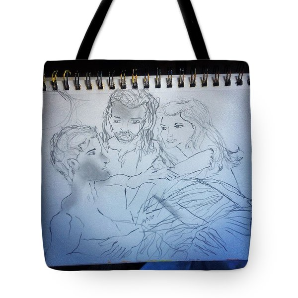 Adam Andeve The Creation Story Tote Bag