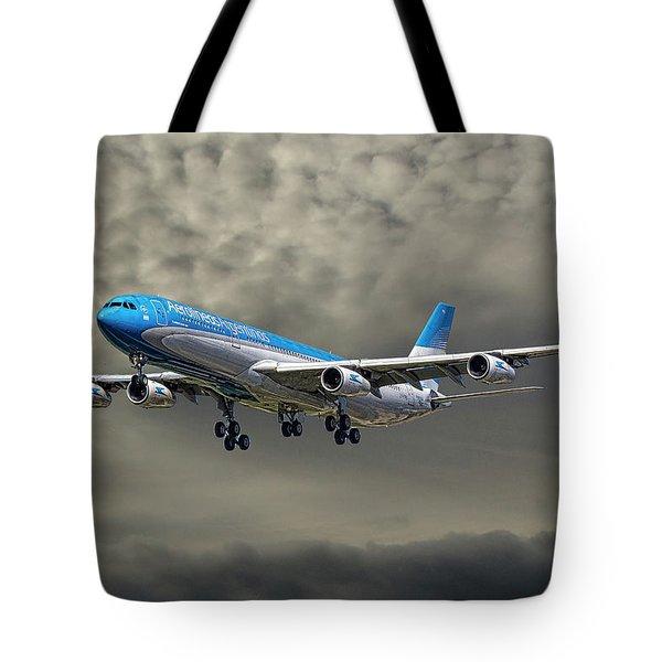 Aerolineas Argentinas Airbus A340-313 Tote Bag