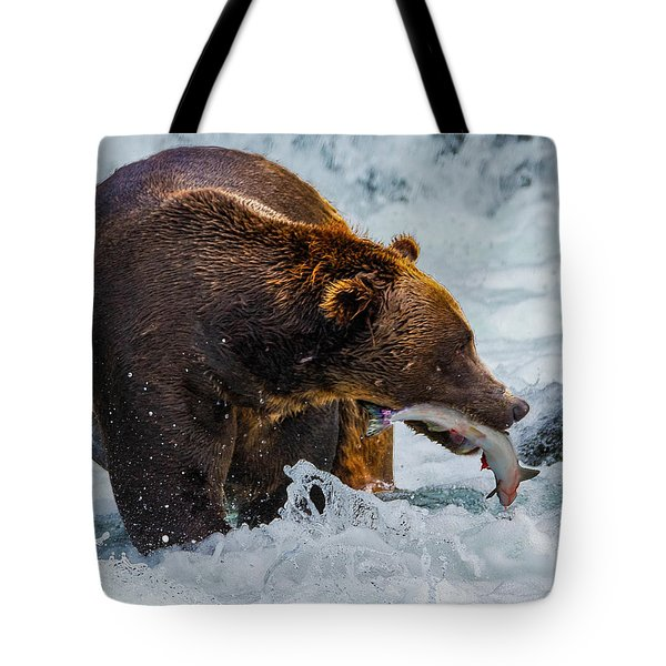 Alaska Brown Bear Tote Bag