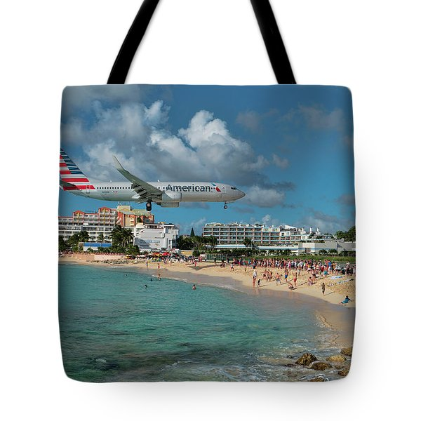 American Airlines At St. Maarten Tote Bag