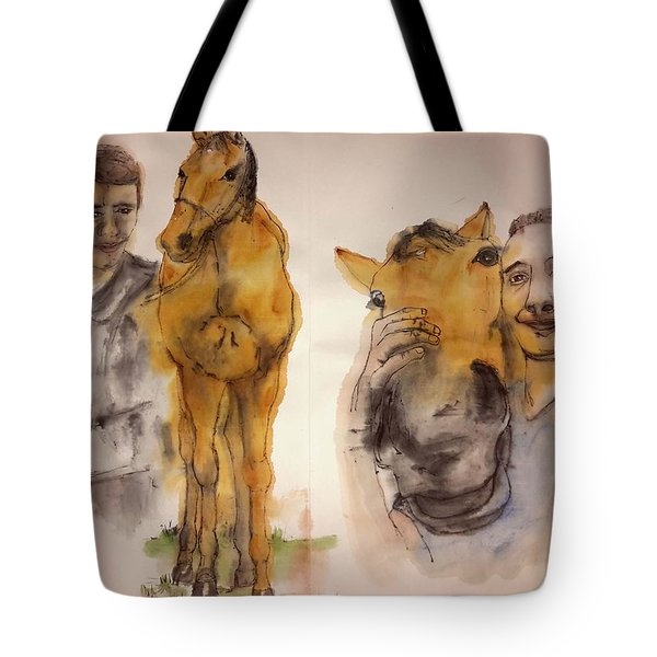 Tote Bag featuring the painting American Pharaoh Abum by Debbi Saccomanno Chan