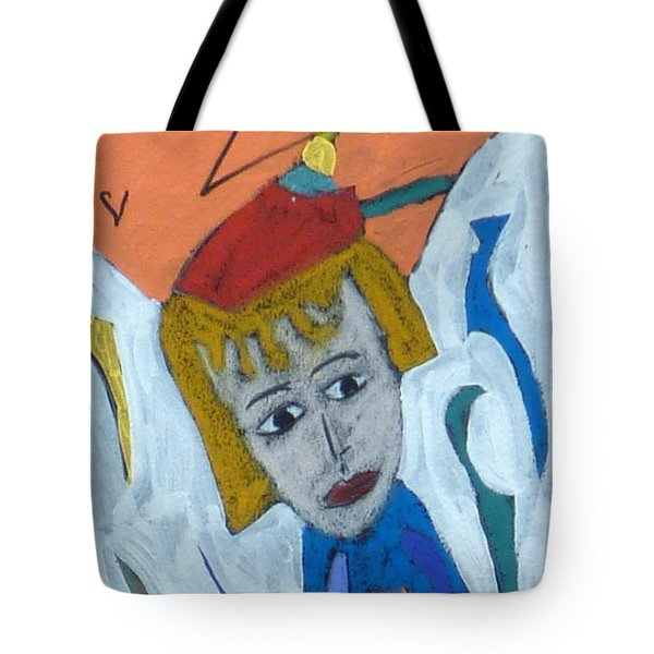 Tote Bag featuring the painting Archangel Raziel by Clarity Artists