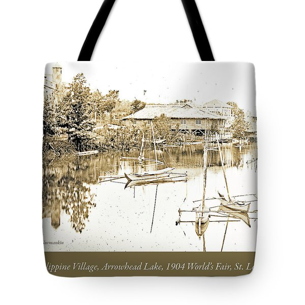 Arrow Head Lake, Philippine Village, 1904 Worlds Fair, Vintage P Tote Bag