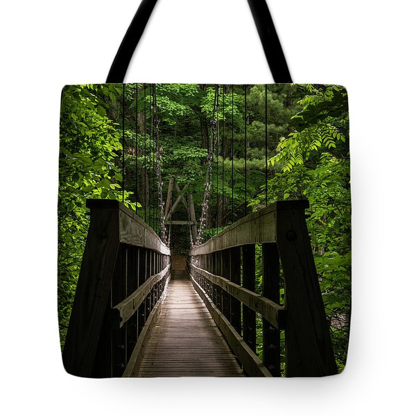 Tote Bag featuring the photograph At Bridge by Kevin Blackburn