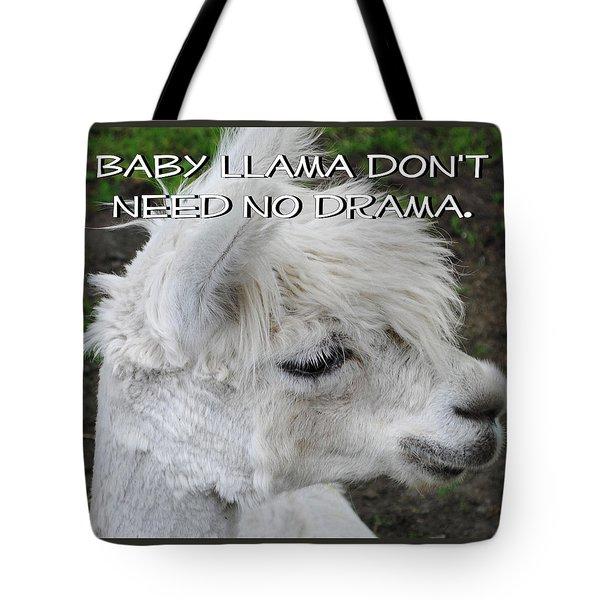 Baby Llama Tote Bag by Ellen Henneke