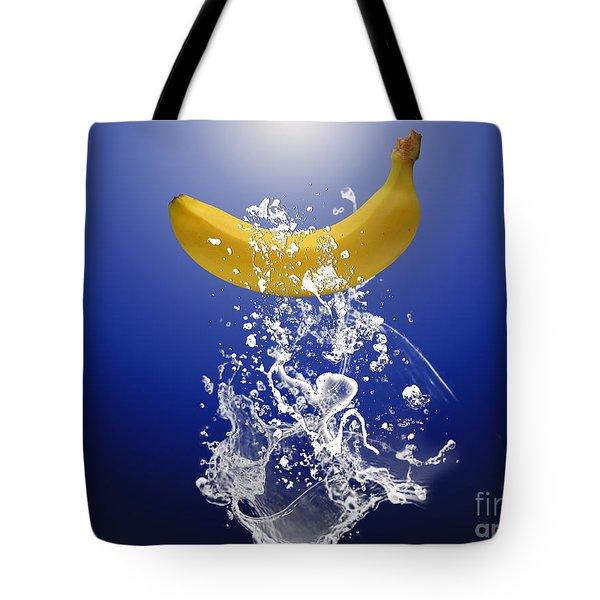 Banana Splash Tote Bag by Marvin Blaine