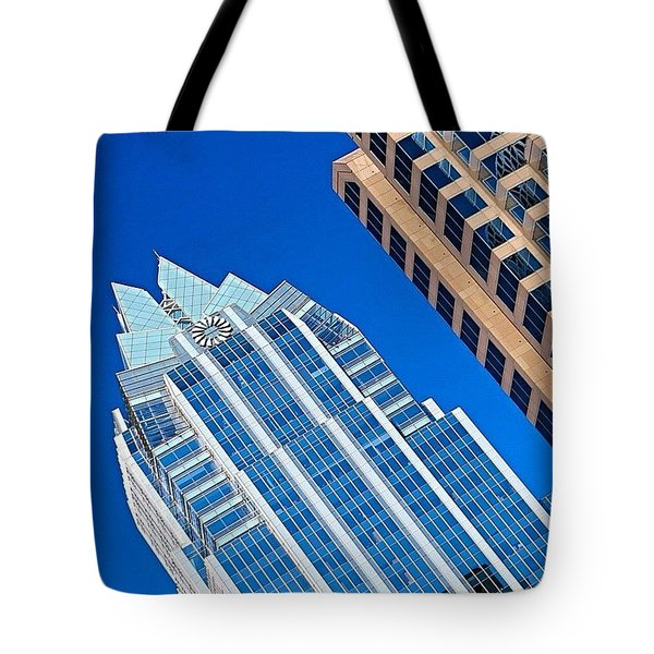 #beautiful #bluesky And The Frost Bank Tote Bag