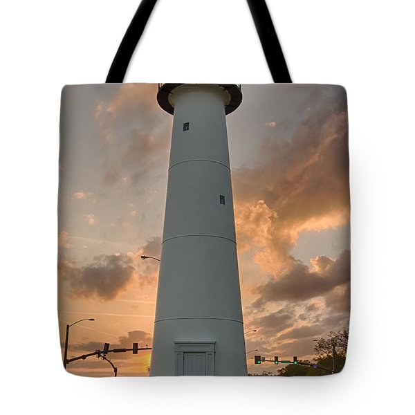 Biloxi Lighthouse Tote Bag by Brian Wright