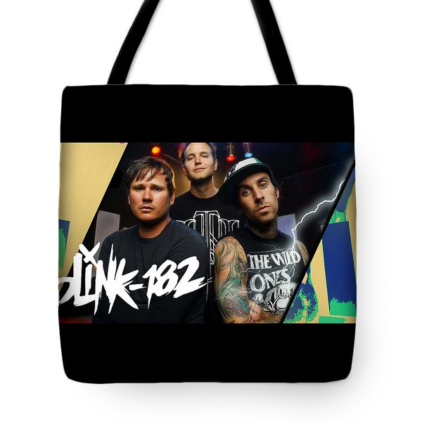 Blink 182 Collection Tote Bag by Marvin Blaine