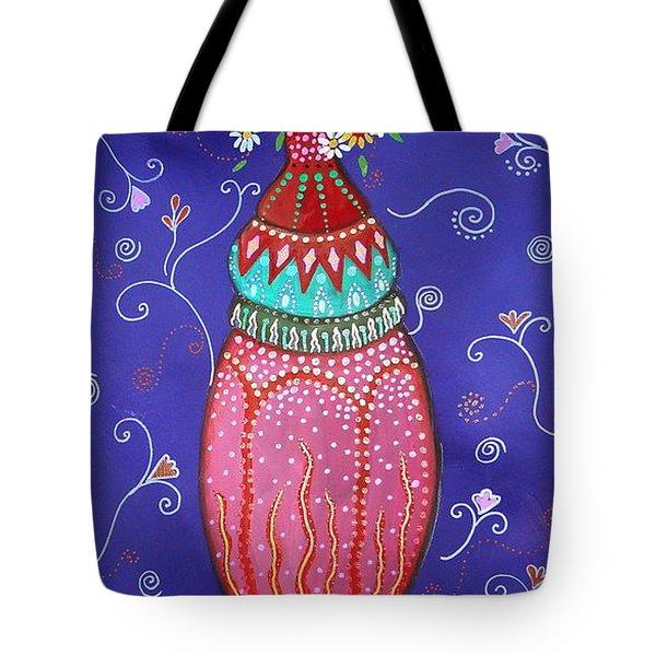 Blooms Tote Bag by Pristine Cartera Turkus