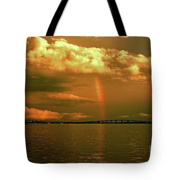 Tote Bag featuring the photograph 3- Blue Heron Bridge by Rainbows