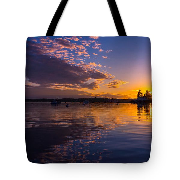 Boothbay Harbor Maine Tote Bag