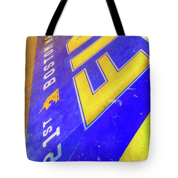 Tote Bag featuring the photograph Boston Marathon Finish Line by Joann Vitali