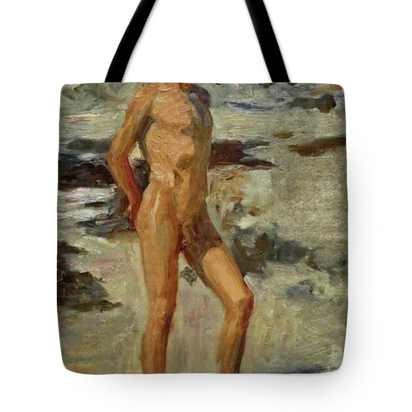 Boy On A Beach Tote Bag