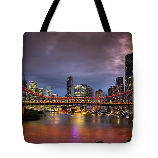 Brisbane City Skyline After Dark Tote Bag