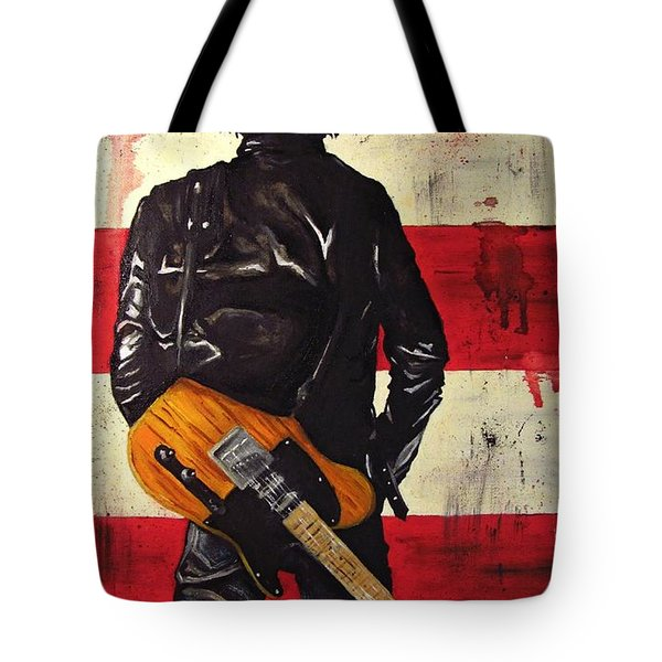 Bruce Springsteen Tote Bag by Francesca Agostini