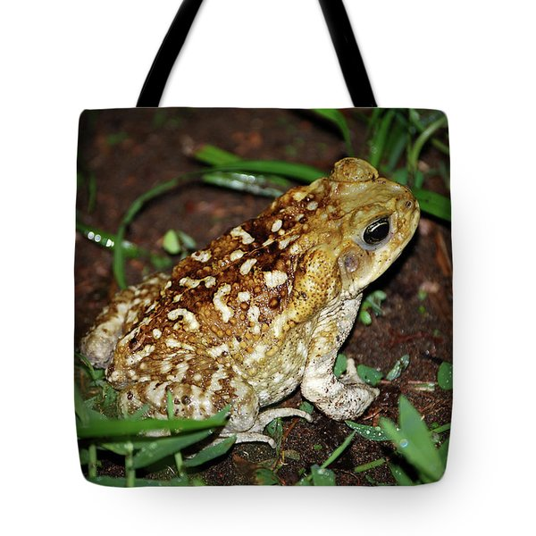 Tote Bag featuring the photograph Cane Toad by Breck Bartholomew