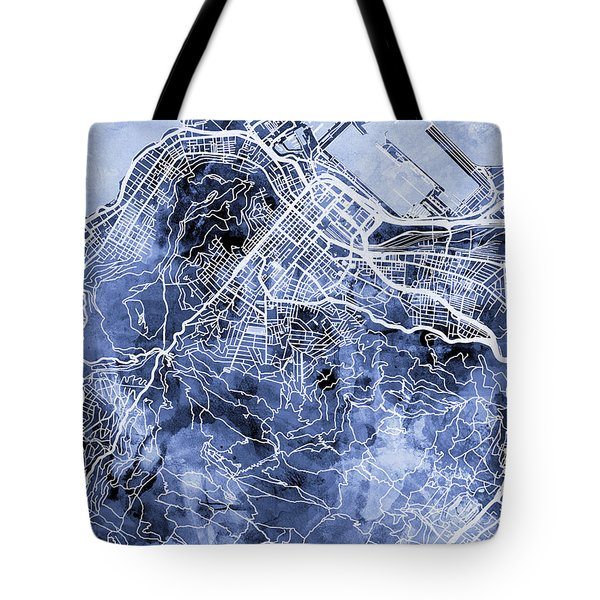 Cape Town South Africa City Street Map Tote Bag