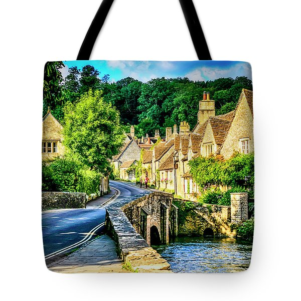 Castle Combe Village, Uk Tote Bag