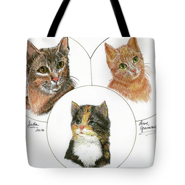 3 Cats For Juda Tote Bag