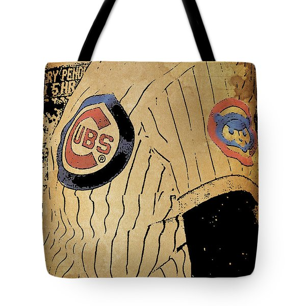 Chicago Cubs Baseball Team Vintage Card Tote Bag