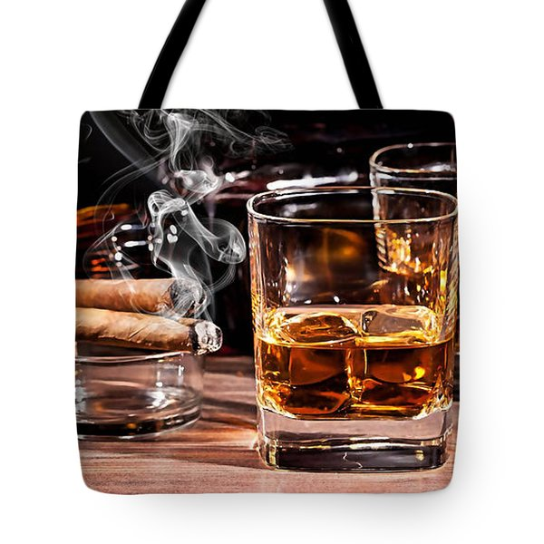 Cigar And Alcohol Collection Tote Bag