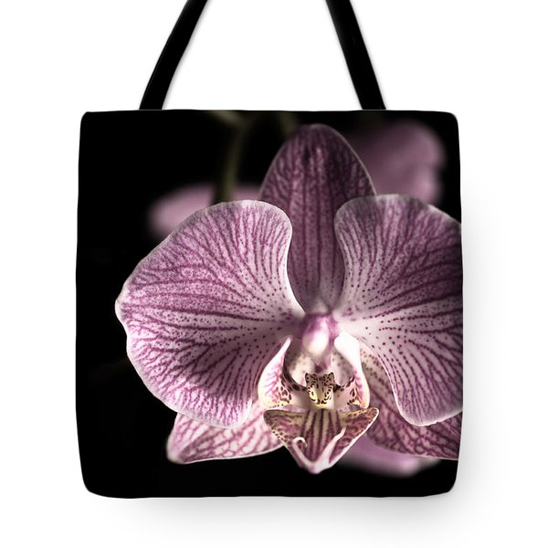 Close Up Shoot Of A Beautiful Orchid Blossom Tote Bag