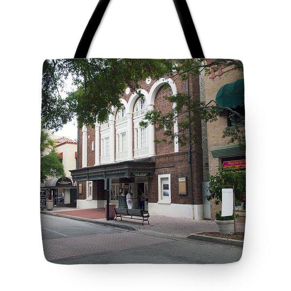 Cocoa Village In Florida Tote Bag by Allan  Hughes