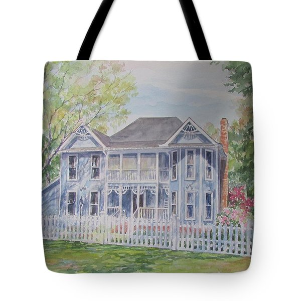 Commissioned Home Portrait Tote Bag