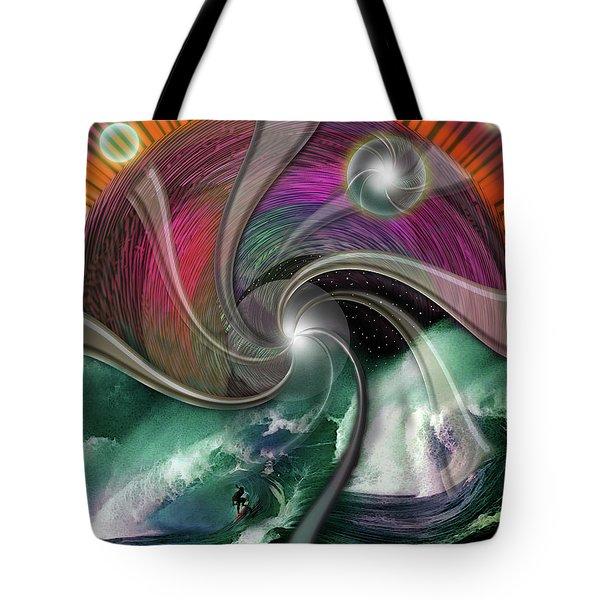 Cosmic Surfer Tote Bag