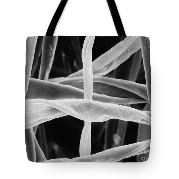 Cotton Fibers Tote Bag by Science Source