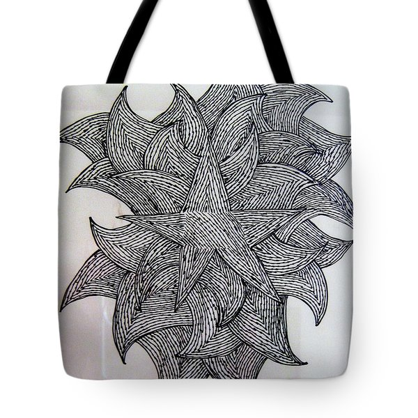 Tote Bag featuring the drawing 3 D Sketch by Barbara Yearty