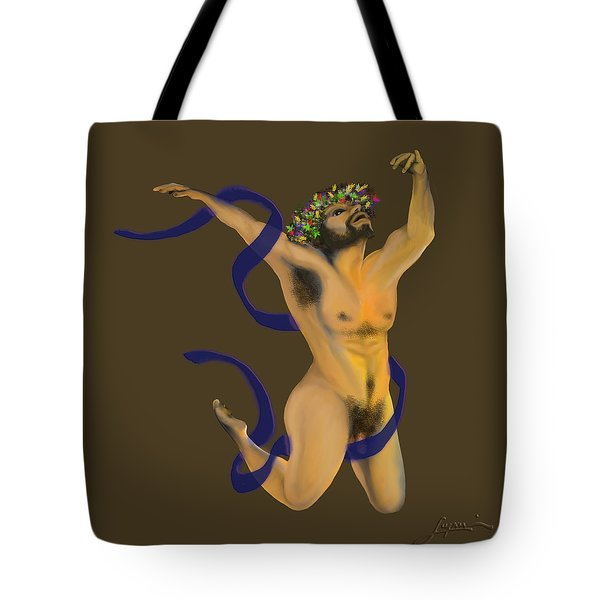 Tote Bag featuring the digital art Dancing Naked In The Forest Dancer by Thomas Lupari