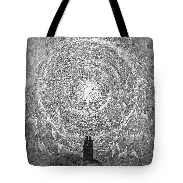 Tote Bag featuring the photograph Dante Paradise by Gustave Dore