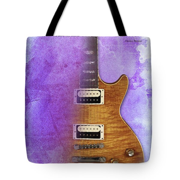 Darius Rucker Inspirational Quote, Electric Guitar Poster For Music Lovers And Musicians Tote Bag by Pablo Franchi