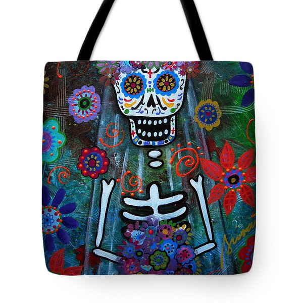 Day Of The Dead Bride Tote Bag by Pristine Cartera Turkus