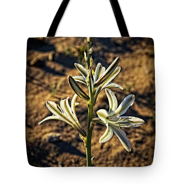 Tote Bag featuring the photograph Desert Lily by Robert Bales