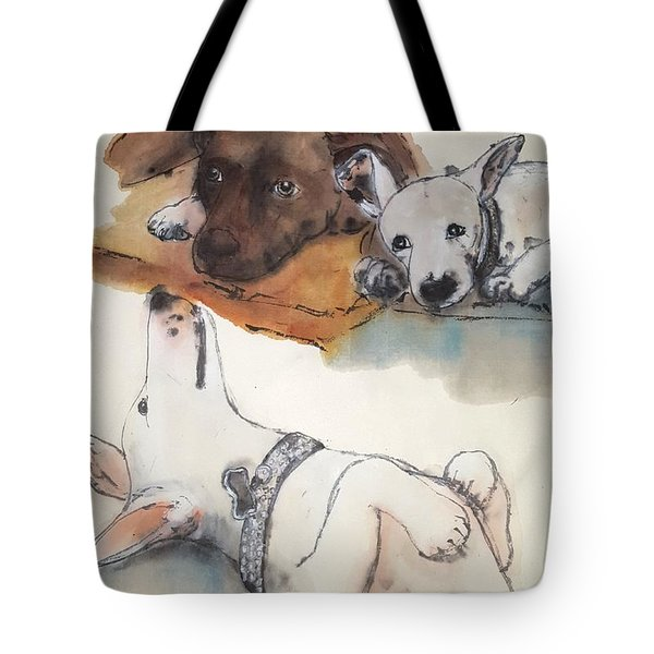 Dogs Dogs  Dogs Album Tote Bag