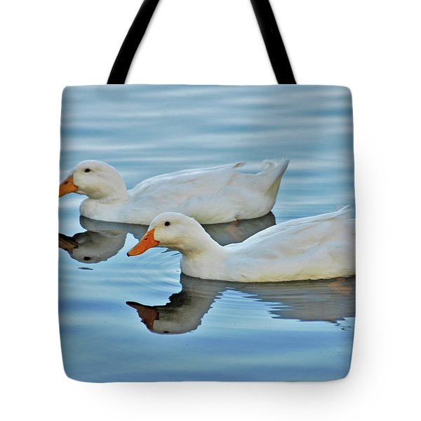 Tote Bag featuring the photograph 3- Ducks by Joseph Keane