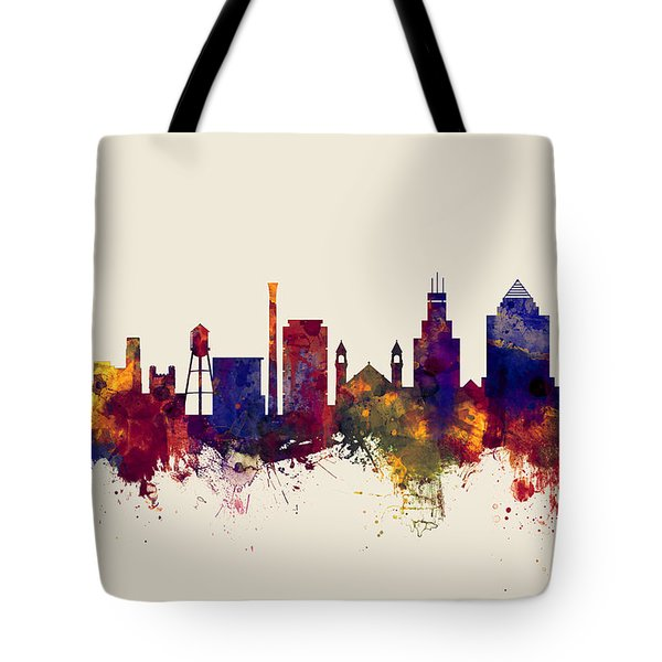 Durham North Carolina Skyline Tote Bag