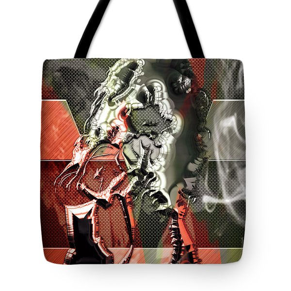 Eddie Van Halen Art Tote Bag by Marvin Blaine