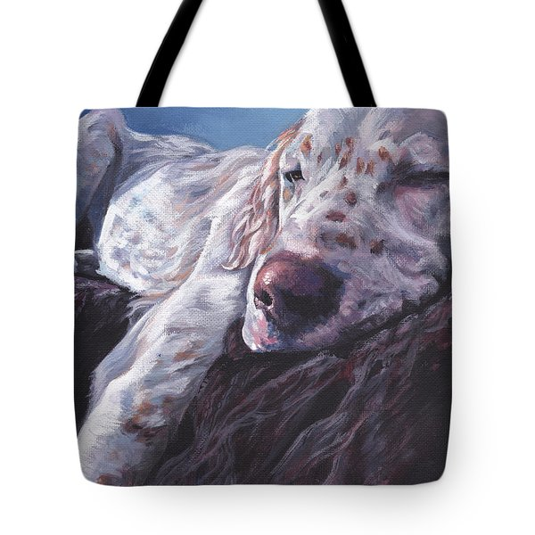Tote Bag featuring the painting English Setter by Lee Ann Shepard
