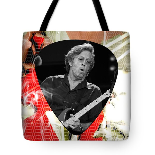 Eric Clapton Art Tote Bag by Marvin Blaine