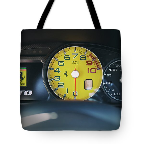 Tote Bag featuring the photograph #ferrari #599gto #print by ItzKirb Photography